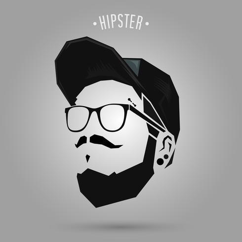 Hipster Punk tragen Mütze vektor
