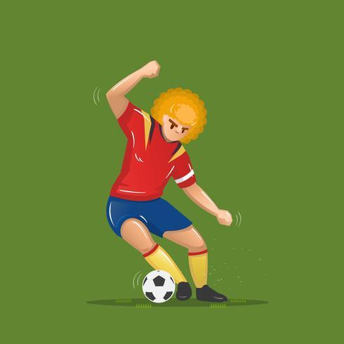 habilidad de dibujos animados de futbol vector