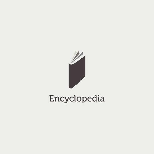 Simple Clean Encyclopedia Book Logo Sign Symbol Icon