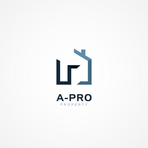 Lettera di tipo A House Property Logo Sign Simbolo Icona