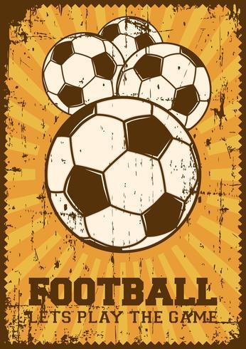 Fútbol Fútbol Deporte Retro Pop Art Cartel Signage