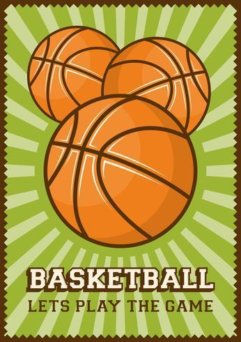 Contrassegno di retro manifesto di arte di schiocco di sport di gioco del calcio di pallacanestro