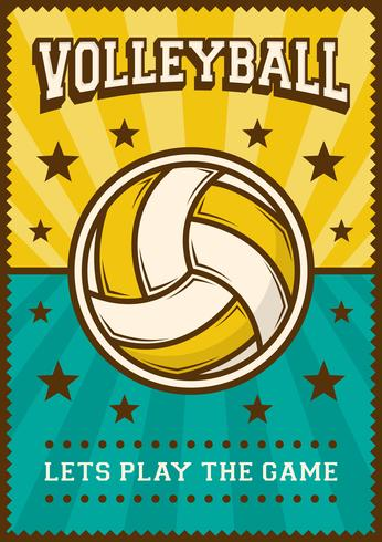Volleybal Volleybal Sport Retro Pop Art Posterborden vector
