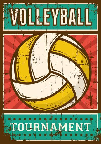 Volleyboll Volleyboll Sport Retro Pop Art Poster Signage