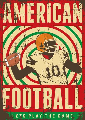 American Football Rugby Sport Retro Pop Art Posterborden