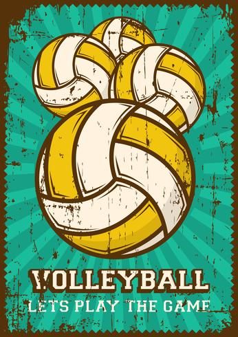 Volley Ball Volleyball Sport Retro Pop Art Poster Segnaletica