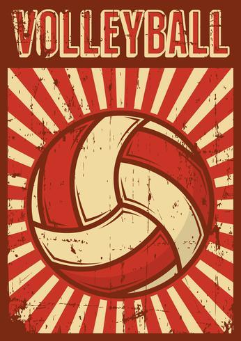 Volleybal Volleybal Sport Retro Pop Art Posterborden