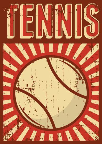 Cartel del cartel del arte pop retro del deporte del tenis