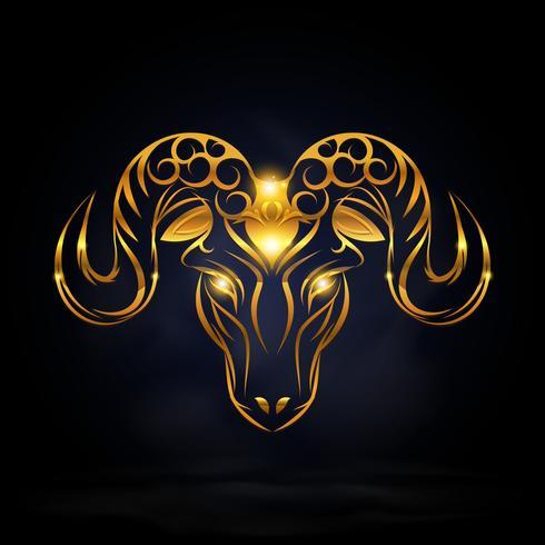 Gold Ziege Symbol