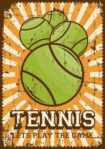 Poster retro do pop art do esporte do tênis