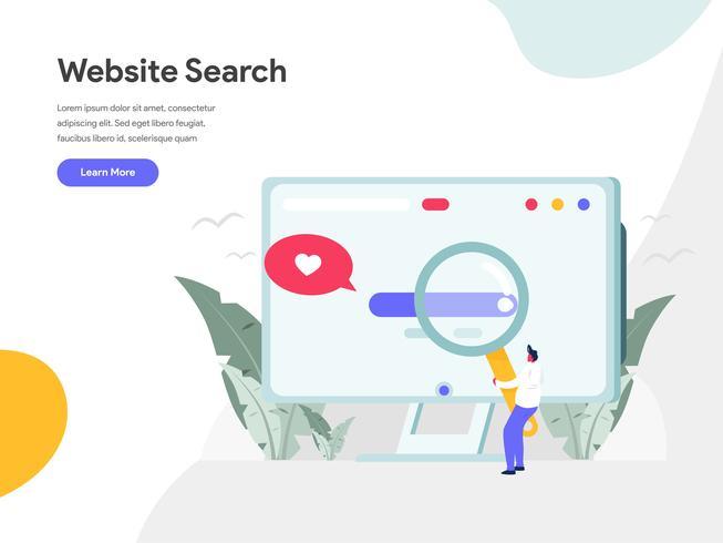 Website-Suche-Illustrations-Konzept. Modernes flaches Konzept des Entwurfes des Webseitenentwurfs für Website und bewegliche Website Vektorillustration ENV 10