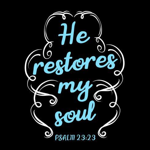 Restaura mi alma