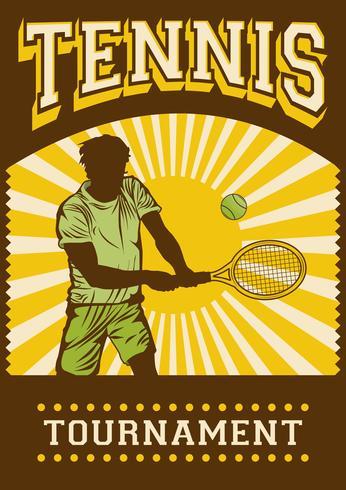 Segnaletica per poster retrò di sport da tennis
