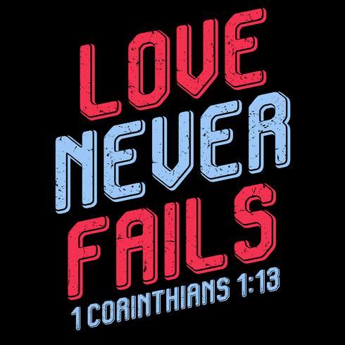 Liefde faalt nooit