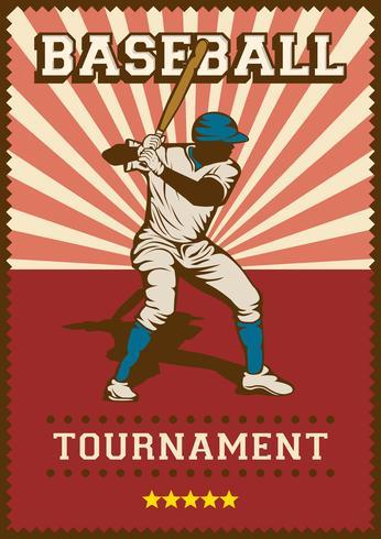 baseball sport retro popkonst affisch skyltning