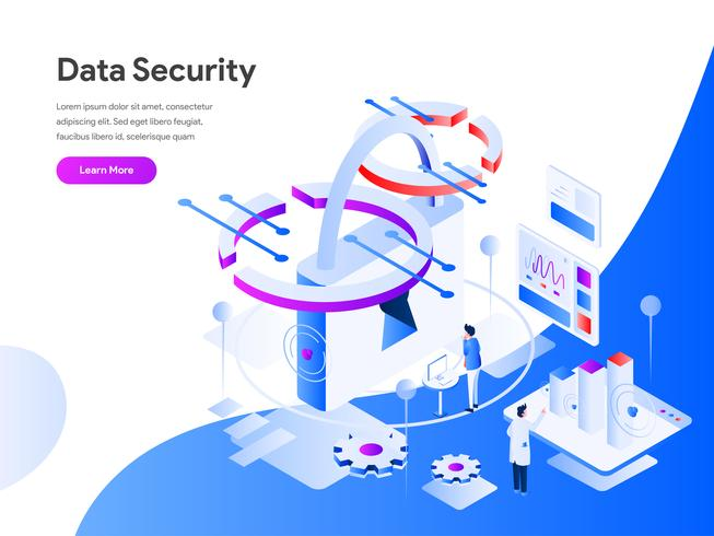 Concept d'illustration isométrique de sécurité des données. Concept de design plat moderne de conception de page Web pour site Web et site Web mobile. Illustration vectorielle EPS 10 vecteur