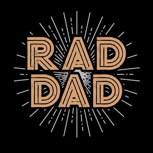 Arte de la tipografía Rad papá