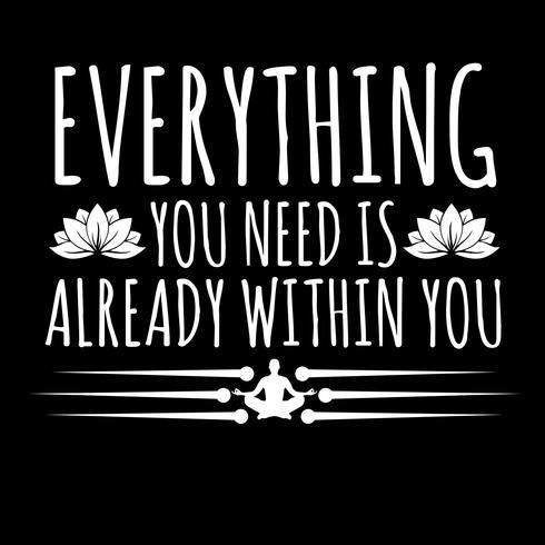 Allt du behöver finns redan inom dig