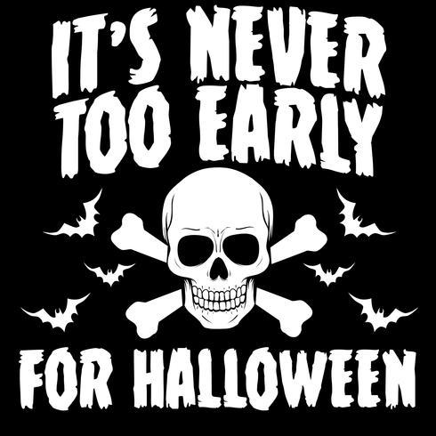 Nunca é cedo demais para o Halloween