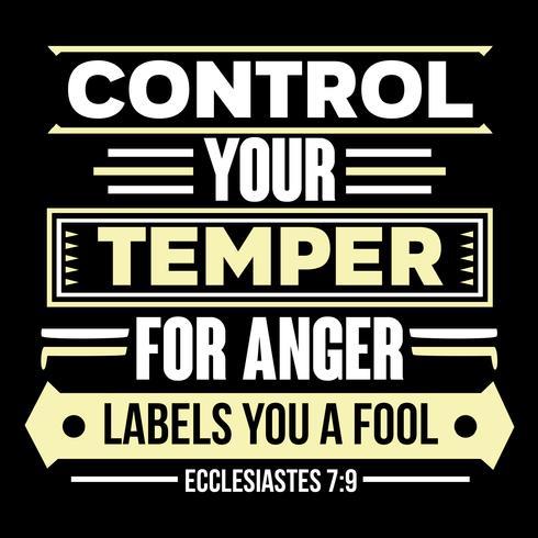 Controla tu temperamento para que las etiquetas de la ira seas un tonto