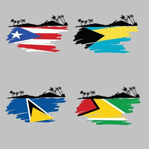 Vecteur île des Caraïbes