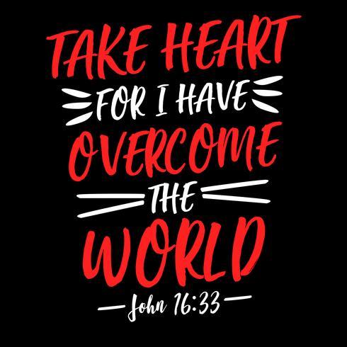Prenez à cœur car j'ai vaincu le monde
