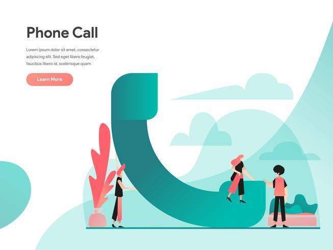 Conceito de ilustração de telefonema. Conceito de design moderno apartamento de design de página da web para o site e site móvel. Ilustração vetorial EPS 10