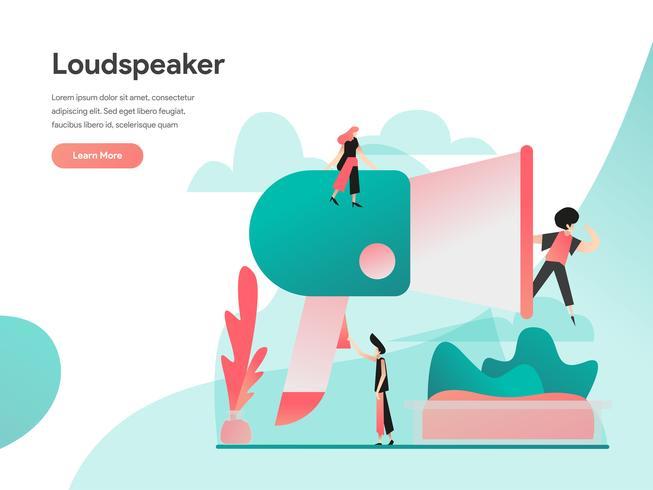 Luidspreker Illustratie Concept. Modern vlak ontwerpconcept Web-paginaontwerp voor website en mobiele website Vector illustratie Eps 10