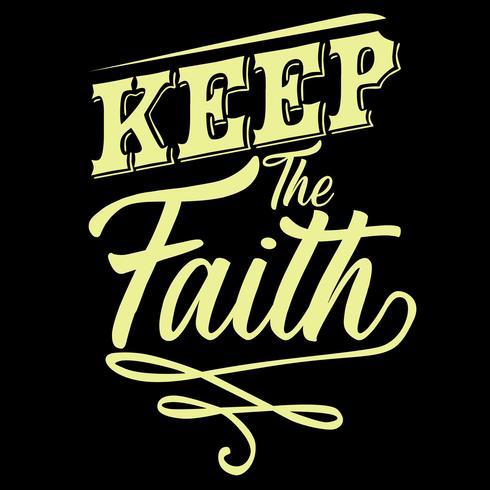 Mantener la fe