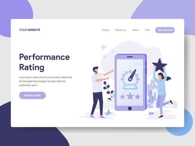 Landing page template of Performance Rating Illustration Concept. Modern flat design concept of web page design for website and mobile website.Vector illustration vector
