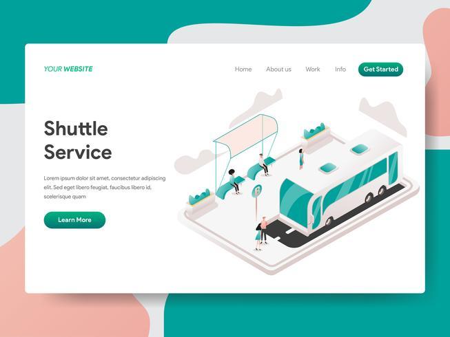 Modelo da página da aterrissagem do conceito da ilustração do serviço de canela. Conceito de design isométrico do design de página da web para o site e site móvel.
