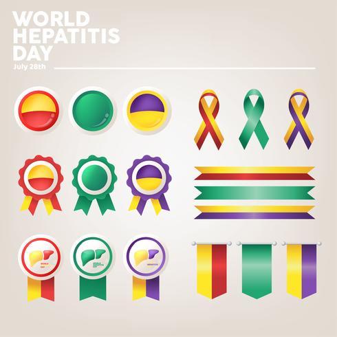 World Hepatitis Day Vector Pack
