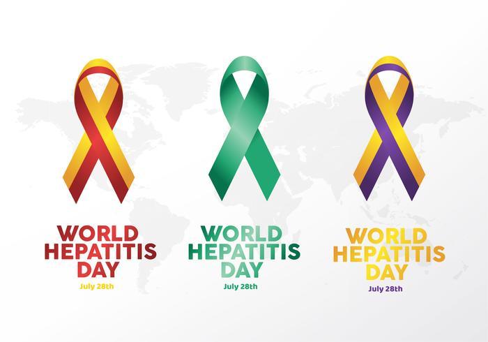 Logotipo da fita do dia da hepatite do mundo