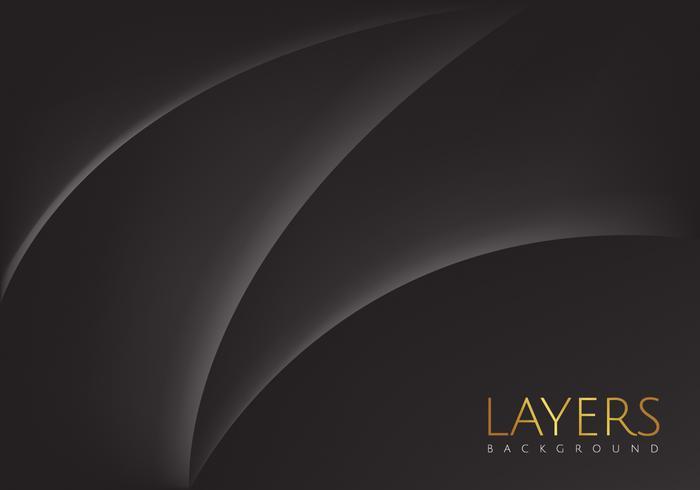 Abstraktes schwarzes Schicht-Vektor-Design