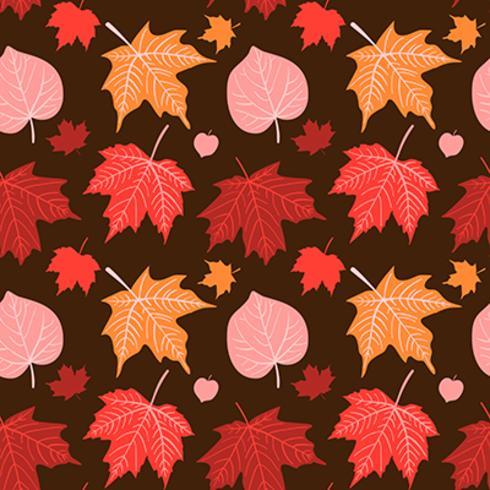 Vector mano dibujada otoño de patrones sin fisuras