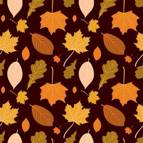 Modèle sans couture automne dessiné de main Vector