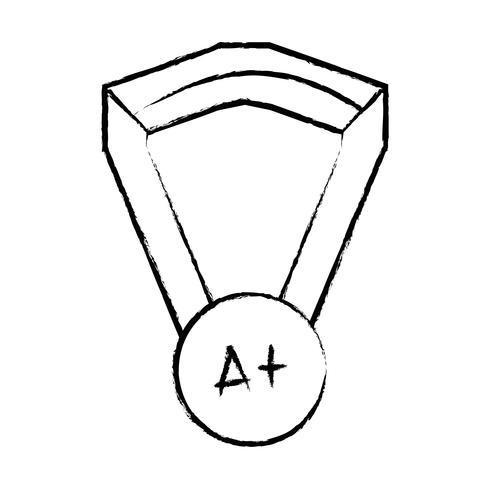 figur skolmedalj symbol till intelligent student