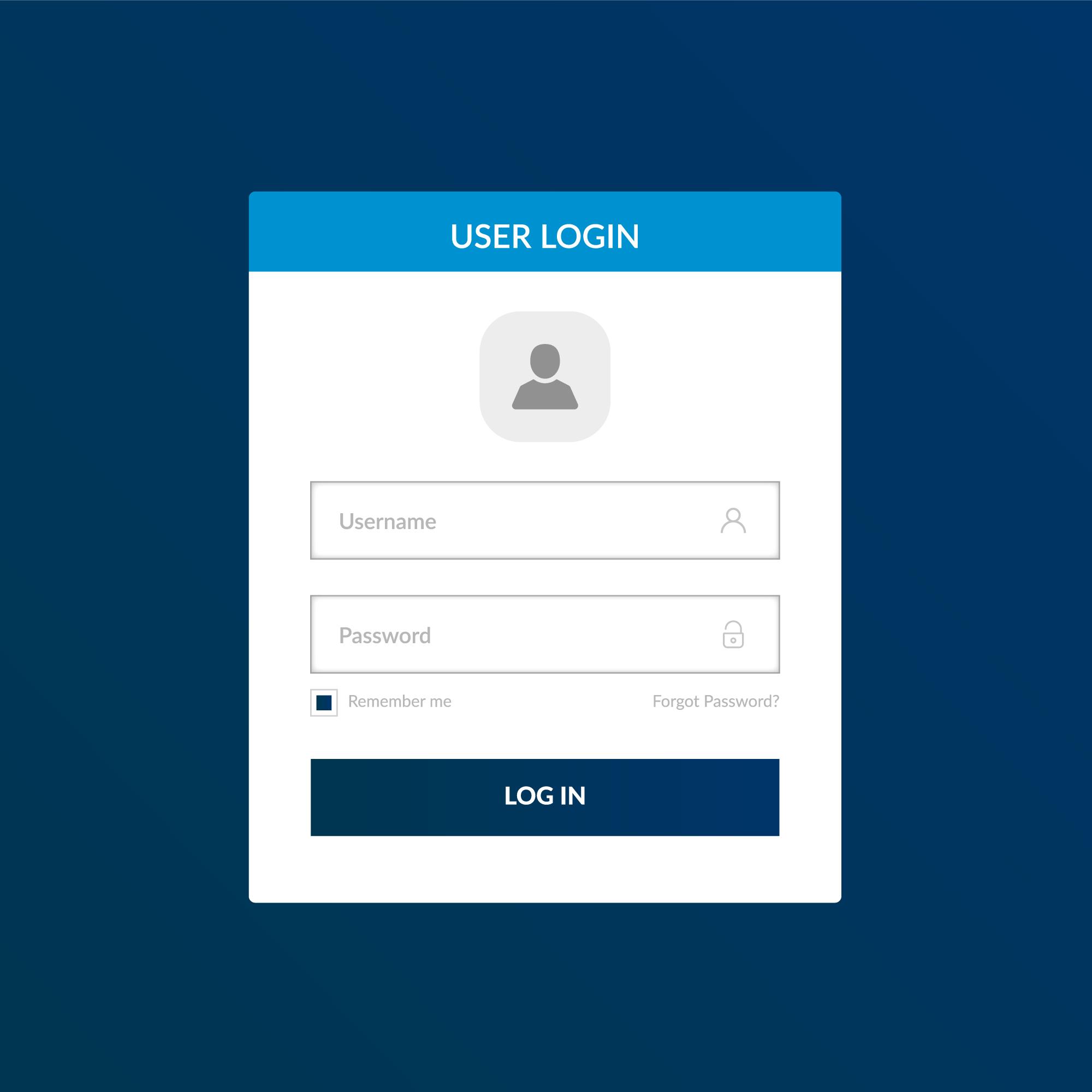Login form template - Download Free Vectors, Clipart