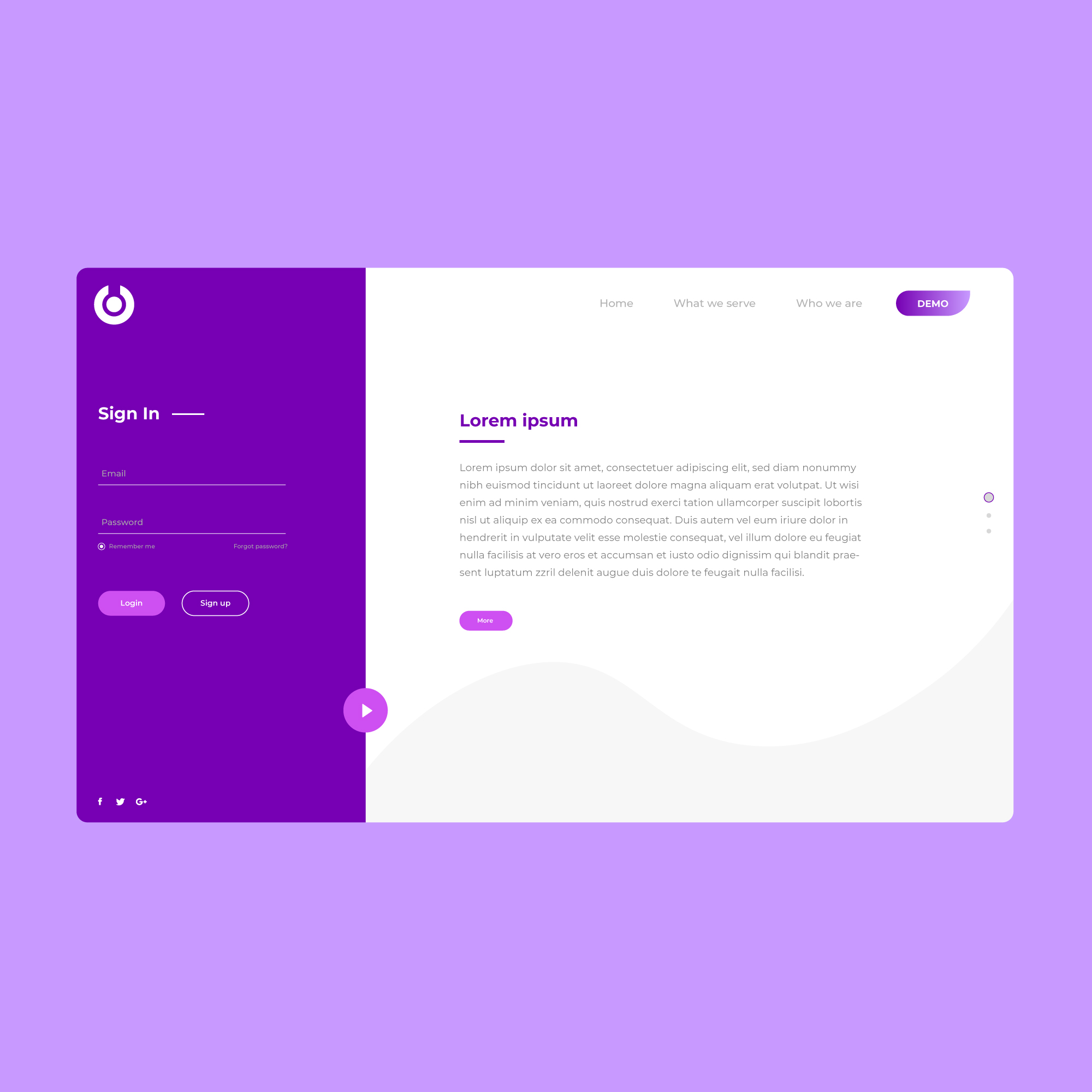 Email Login Page