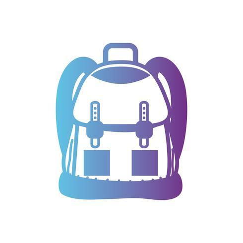 Linie Rucksack Objekt mit Taschen und Verschlüssen Design
