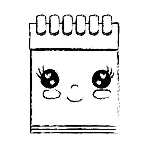 Abbildung Kawaii niedlich glücklich Notebook-Tool