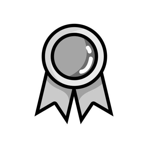 grijswaarden schoolmedaille symbool voor intelligente student