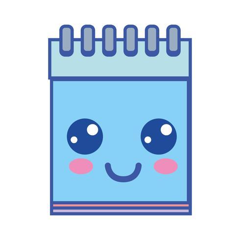 kawaii, un outil de cahier heureux et joyeux