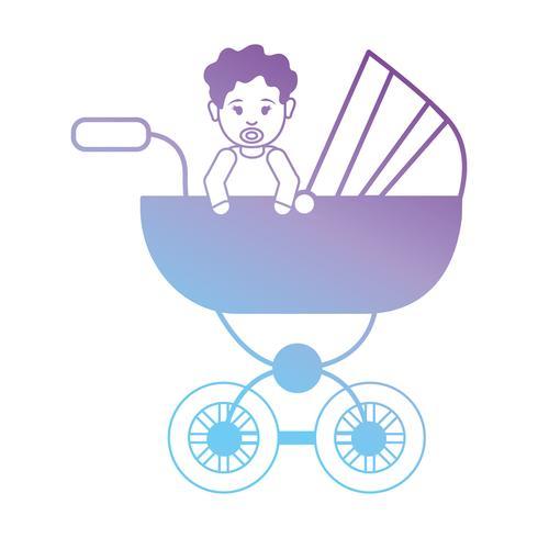 Linie Baby im Kinderwagen Design
