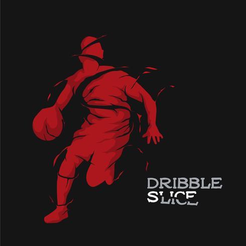 basket-ball silhouette dribble tranche