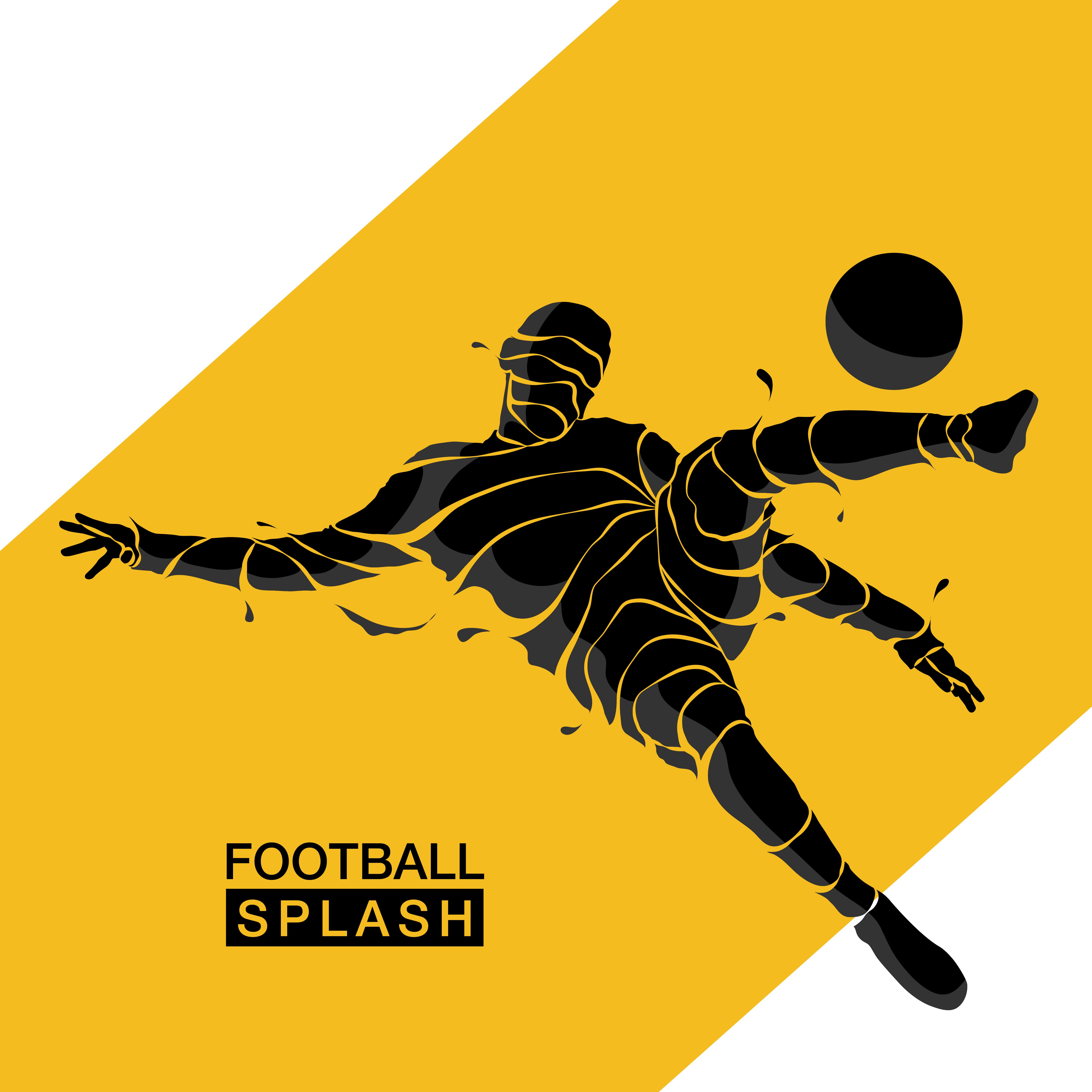 football soccer splash silhouette 641338 - Download Free ...