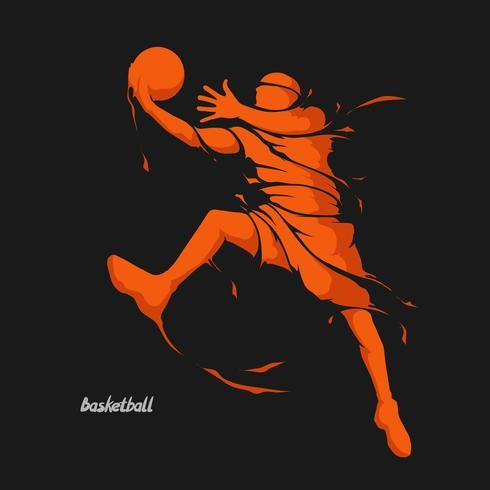 salpicadura de jugador de baloncesto