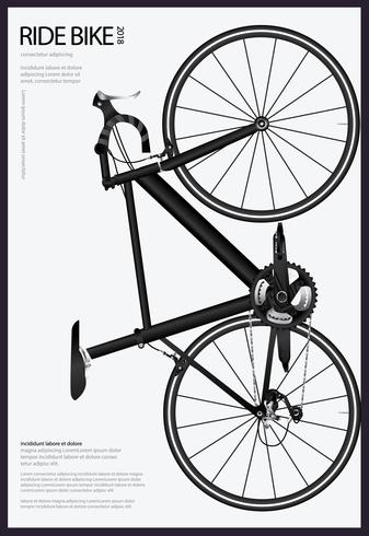 Radfahrenplakat-Vektor-Illustration