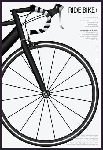 Bicicleta ciclismo cartel vector illustration