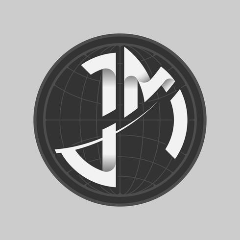 Tipo de logotipo JM vector